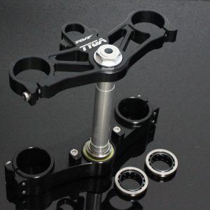 TYGA Gabelbrücken-Set CNC schwarz, Honda NC35