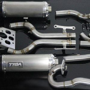 TYGA Auspuff-Komplettanlage, Race System – Doppel-Endschalldämpfer, KTM RC390 2017