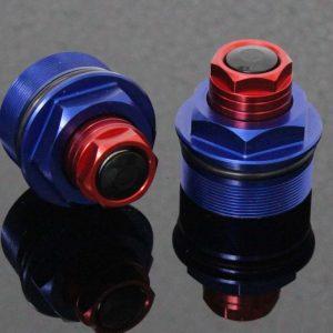 TYGA Gabelverschlusskappen blau/rot (Paar), Honda MSX125 GROM