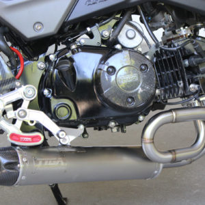 """TYGA Auspuffanlage """"under belly"""" mit langem Endchalldämpfer, Honda MSX125SF  GROM"""