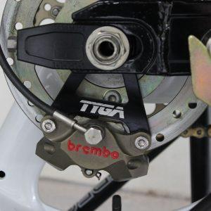 Bremssattelträger hinten CNC schwarz für 84mm Brembo, Suzuki RGV250
