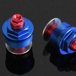 TYGA Gabelverschlusskappen blau/rot (Paar), Kawasaki Ninja 400