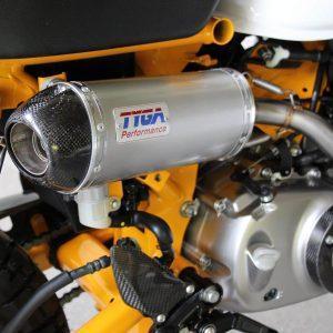 TYGA Auspuffanlage mit ovalem Endschalldämpfer, Honda Monkey 125 2018