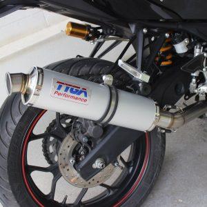 TYGA Auspuffanlage mit Edelstahl Endschalldämpfer, Yamaha R3