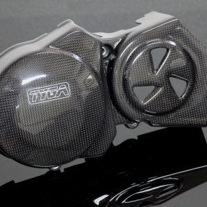 TYGA Lima-/ Ritzelabdeckung Carbon, Suzuki RGV250 VJ21
