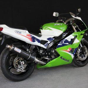 TYGA Racing Auspuffanlage mit Carbon Endschalldämpfer, Kawasaki ZXR400L