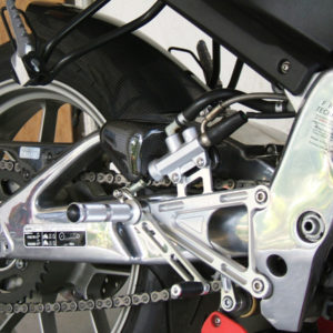 TYGA Racing Fußrastenanlage CNC Alu, Aprilia RS125