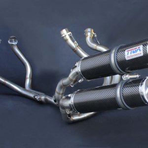 TYGA Auspuffanlage Race mit 2 Carbon Endschalldämpfern, Honda NC30 / NC35