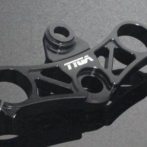 TYGA obere Gabelbrücke CNC schwarz Set, KTM RC125/RC390