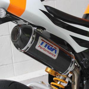 TYGA Auspuffanlage mit Carbon Endschalldämpfer, Honda MSX125  GROM