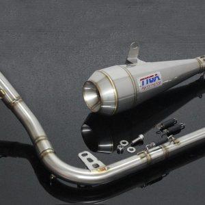 """TYGA Auspuffanlage mit """"MAGGOT"""" Endschalldämpfer, Honda MSX125 GROM"""