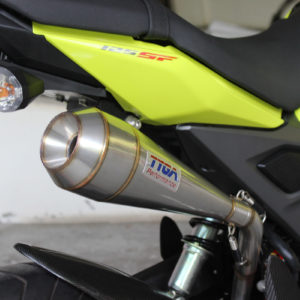 """TYGA Auspuffanlage """"high level"""" mit """"maggot"""" Endschalldämpfer, Honda MSX125SF GROM"""