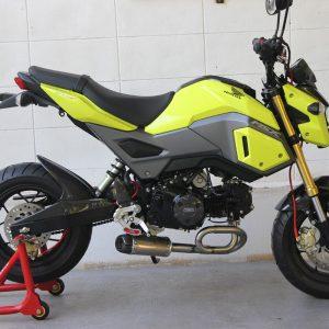 """TYGA Auspuffanlage """"under belly"""" mit kurzem Endschalldämpfer, Honda MSX125SF  GROM"""
