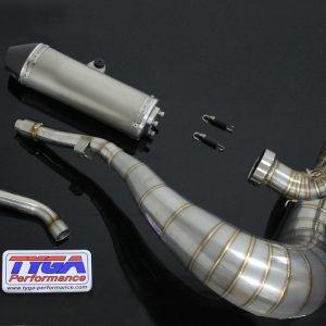 """TYGA Auspuffanlage mit kurzem Endschalldämpfer """"shorty"""", Yamaha YZ250 2005 – 15"""
