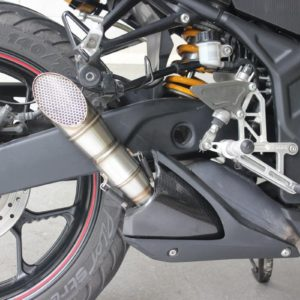 "TYGA Endschalldämpfer mesh/slash cut ""slip-on"" mit Carbon Cover, Yamaha R3"