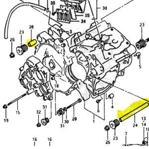 TYGA Motor Distanzhülsen, Suzuki RGV250