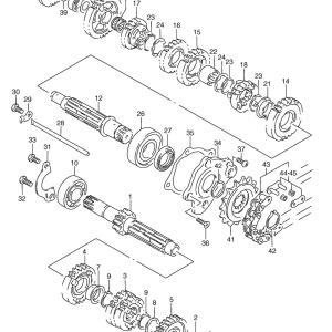 Anlaufscheibe Nr. 24 Getriebe, RGV250 / RS250